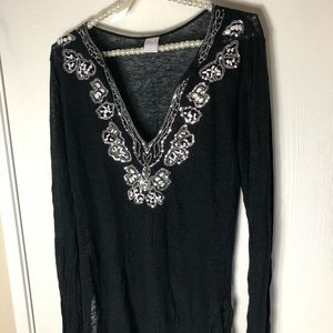 INC International Concepts Swim - Sequins beach cover up tunic